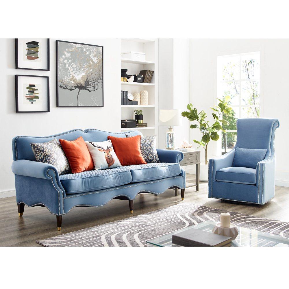 China American Classic Sofa High Quality Velvet Fabric Sofa Living