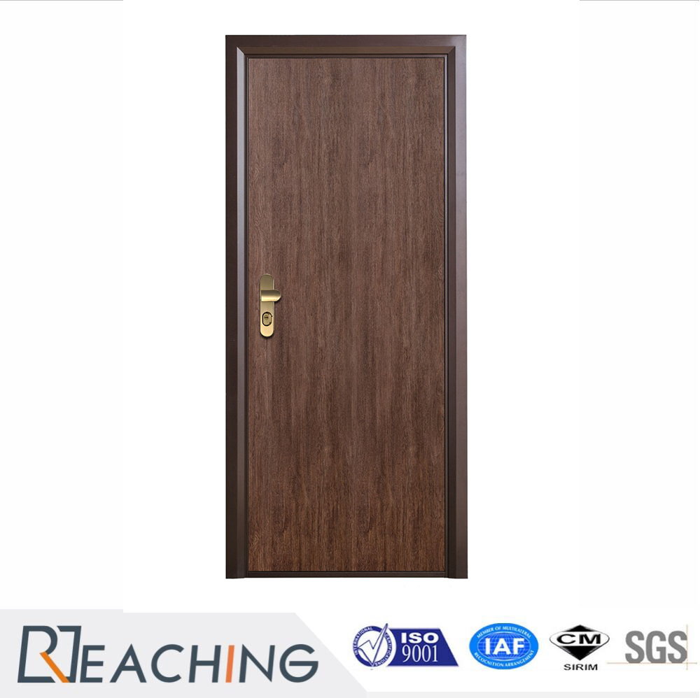 China Interior Wooden Door Vinyl Finish Wood Grain Surface With
