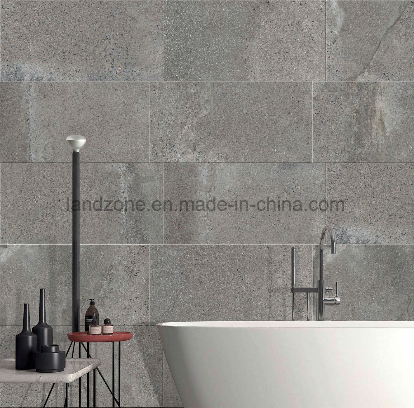 China Grey Color Cement Look Porcelain Floor Tile 600x600 China
