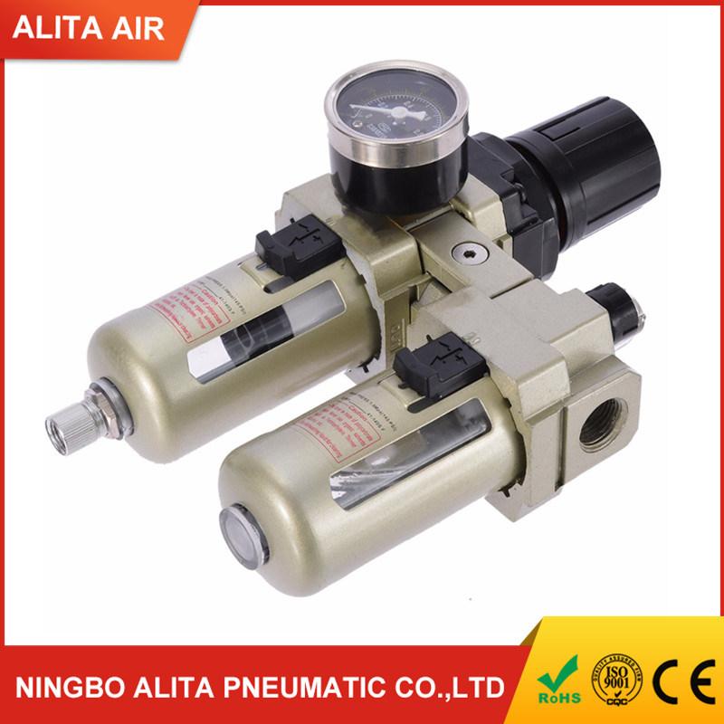 "1/"" Compressor FRL Compressed Air Filter Regulator Oiler Lubricator w// Auto Drain"