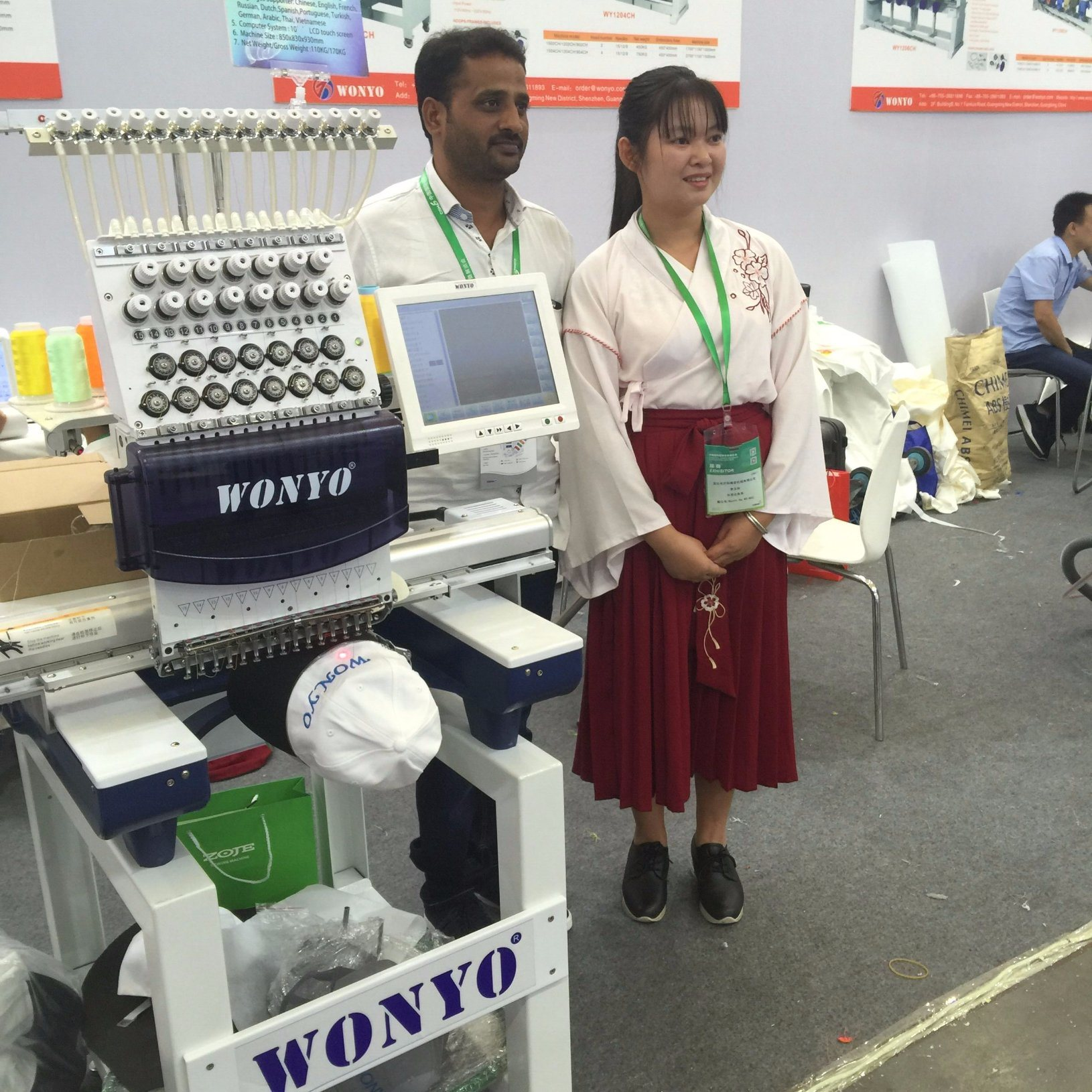 China Digital 4head Embroidery Machine For Shirts And Hats Hot Sale