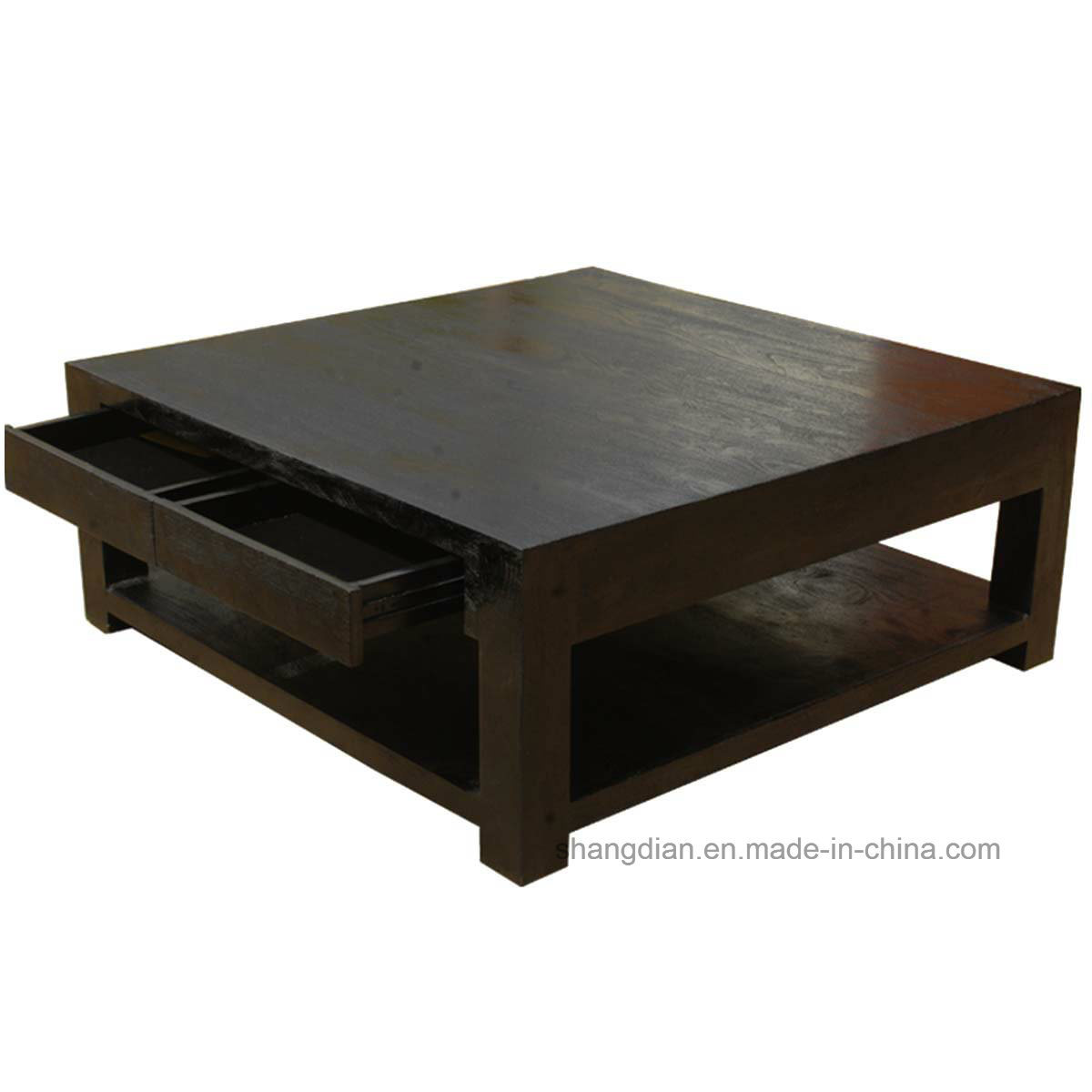 China Apartment Center Table Design Wooden Square Table For Sale