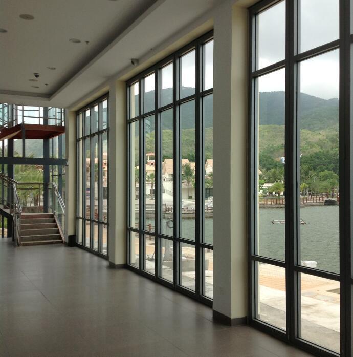 China French Big Aluminum Glass Panel Automatic Patio Sliding Doors