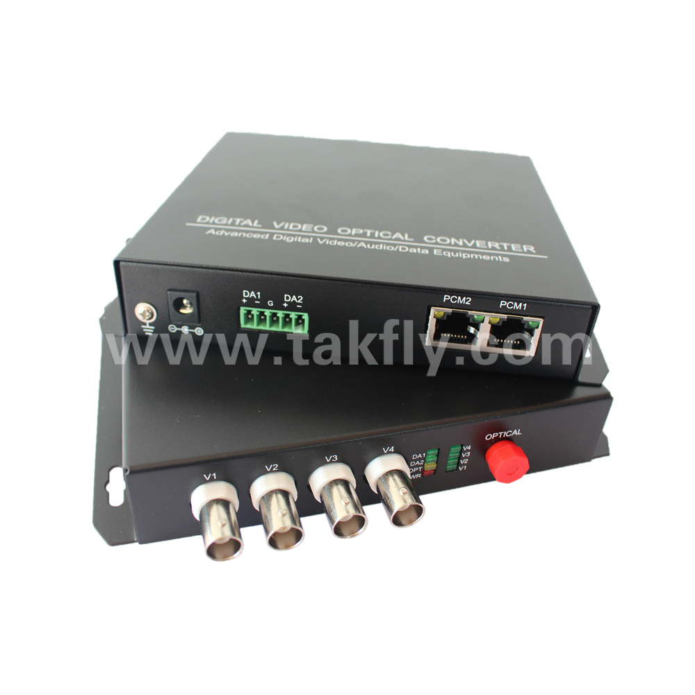[Hot Item] 4 Channels Optical Transmitter and Receiver