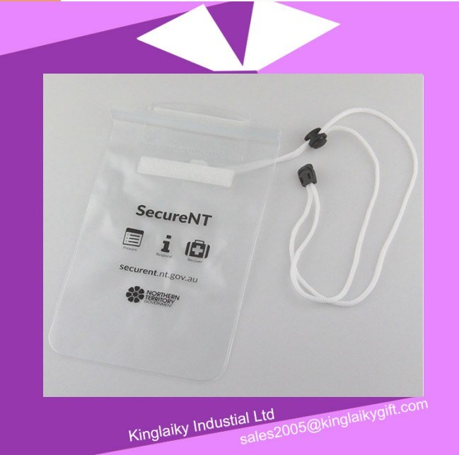 PVC Neck Strap Waterproof Bag for Promotion pictures & photos