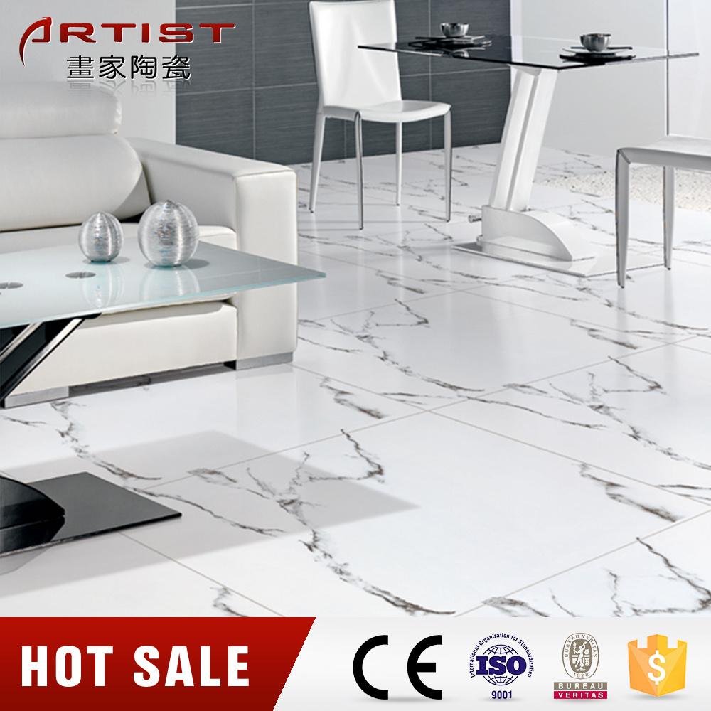 China Calacatta White Glossy White Glazed Porcelain Floor Tile