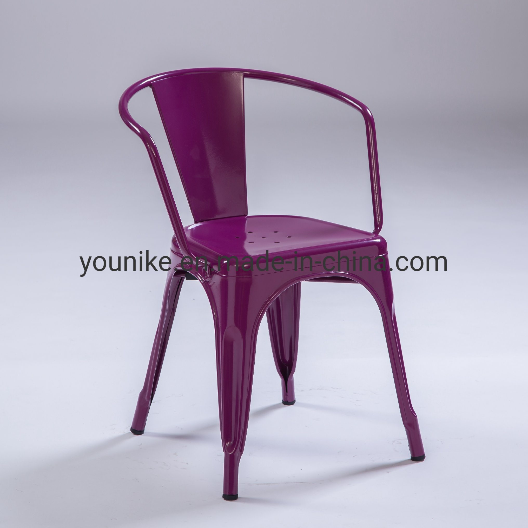 China Industrial Tolix Armchair Vintage Armand Restaurant Outdoor Indoor Colorful China Arm Tolix Chair Dining Chair