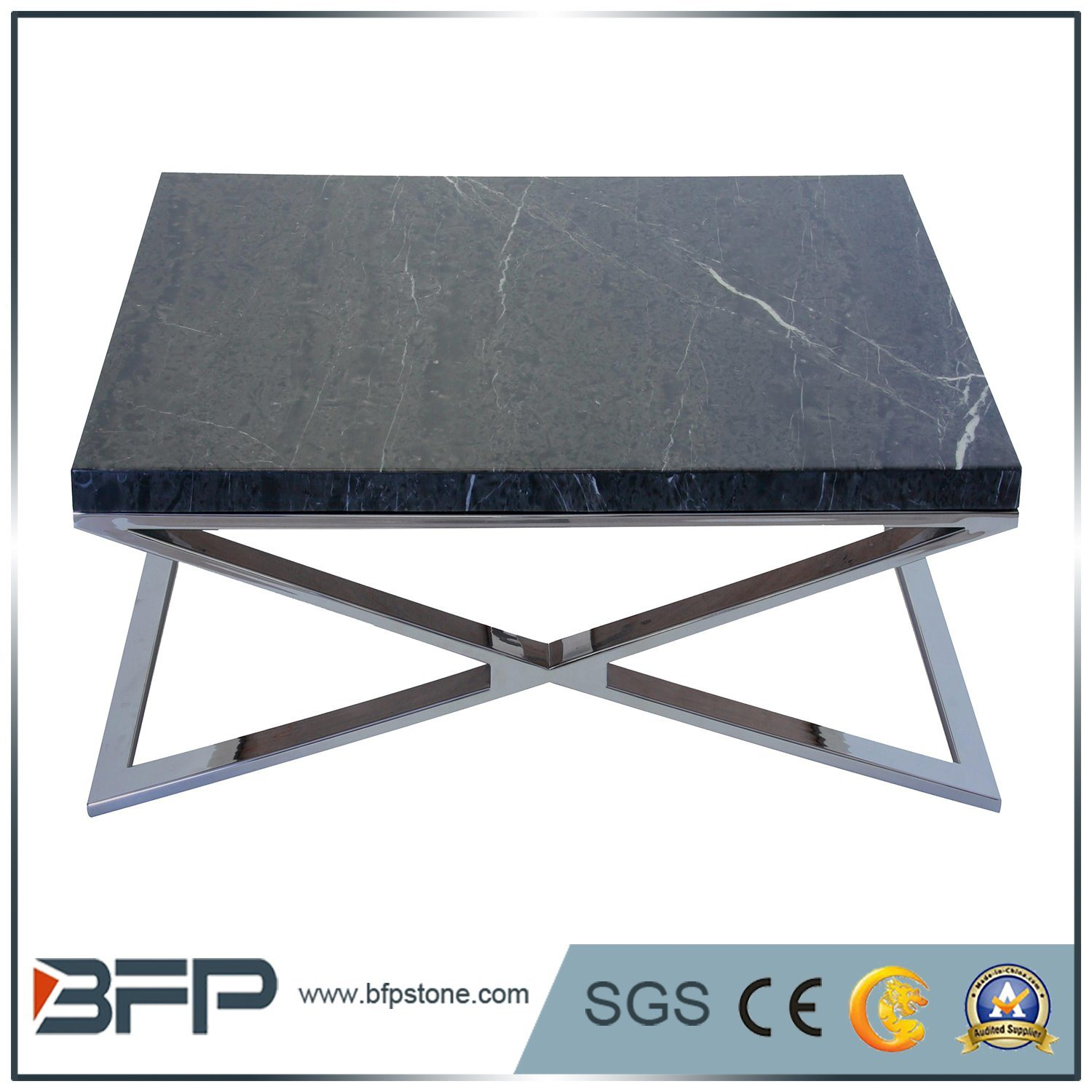 China Black Irregular Square Stone Marble Square Coffee Table Top