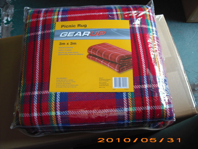 Polar Fleece Water-Resistant Outdoor Camping Beach Mat Picnic Hiking Blanket pictures & photos
