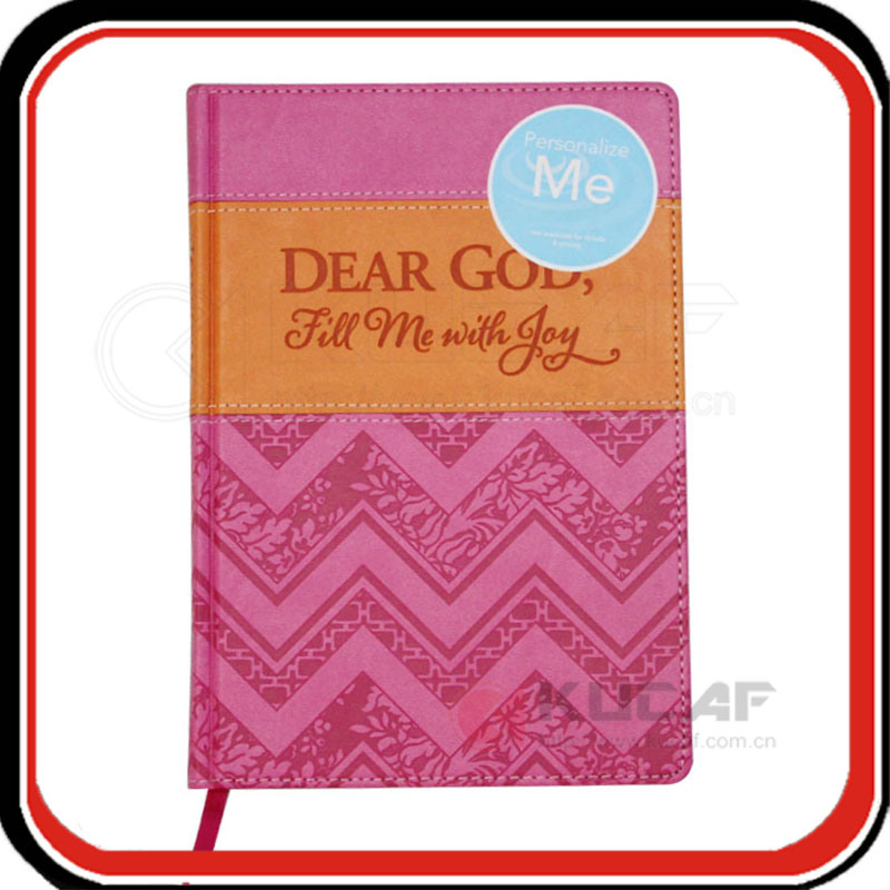 Embossing Printing Leather Writing Journal Notebook