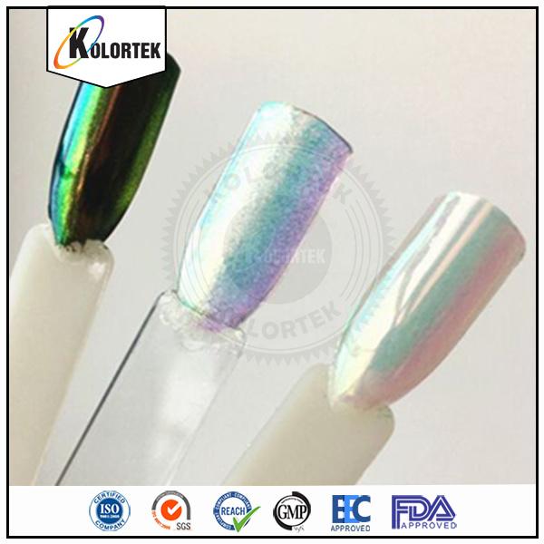 China New Aurora Rainbow Magic Mirror Nails Powder - China Rainbow ...