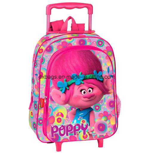 Trolls Poppy Flowers 3D Trolley Kids Bag pictures & photos