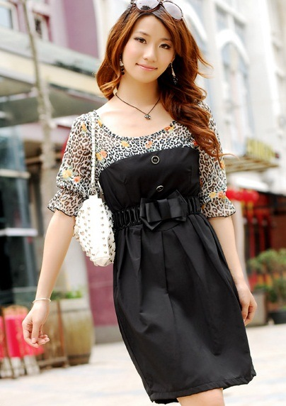 Fashion Silk Career Women Dress