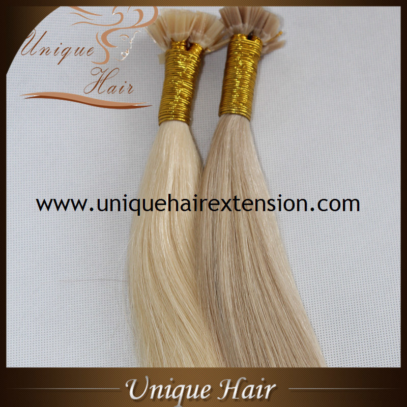China Wholesale European Remy 100 Human Hair Flat Tip Hair