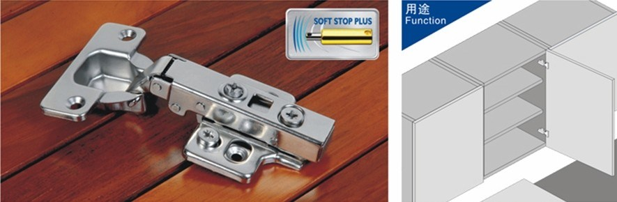 Hydraulic Cabinet Hinges with Quick Mounting Clip on Plate (H0101)