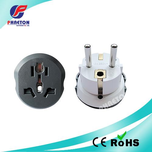 Grounded Shucko Plug Adapter