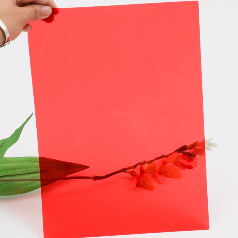 China 0 35mm Tranclucent Red Color Pvc Plastic Sheets Film For Decoration China Pvc Sheets Translucent Color Pvc Sheet