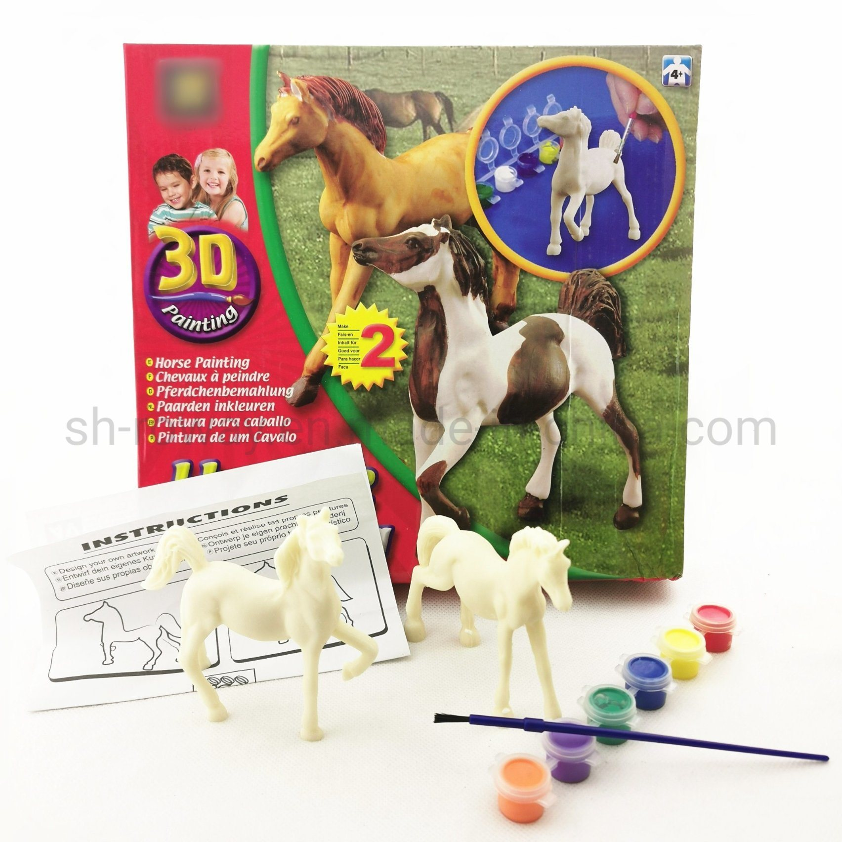 China Horse Painting Kids Diy Creative Painting Plastic Model Toy China Toy And Diy Toy Price