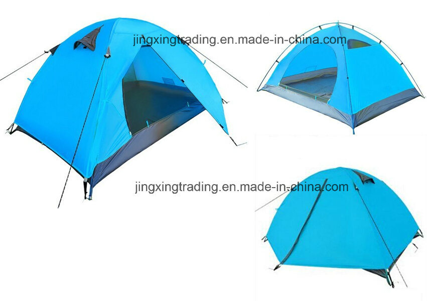 Waterproof Durable Polyester Camp Tent for 1-2 Persons (JX-CT025-2)