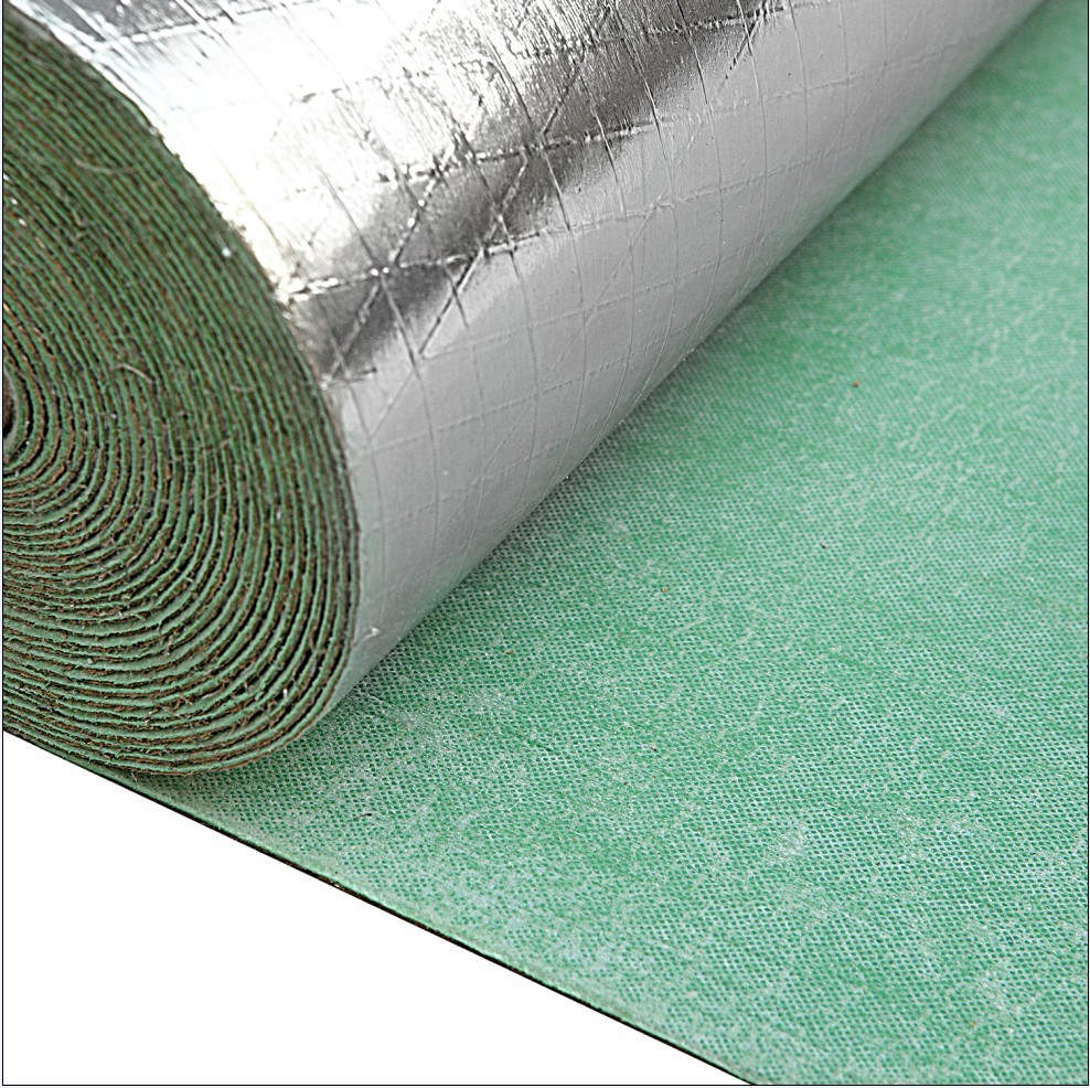 China 2mm Thickness Silver Foil Flooring Underlay With