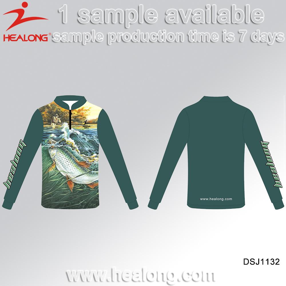 China Sublimation Jersey Custom Fishing Shirts Sport Wear Photos