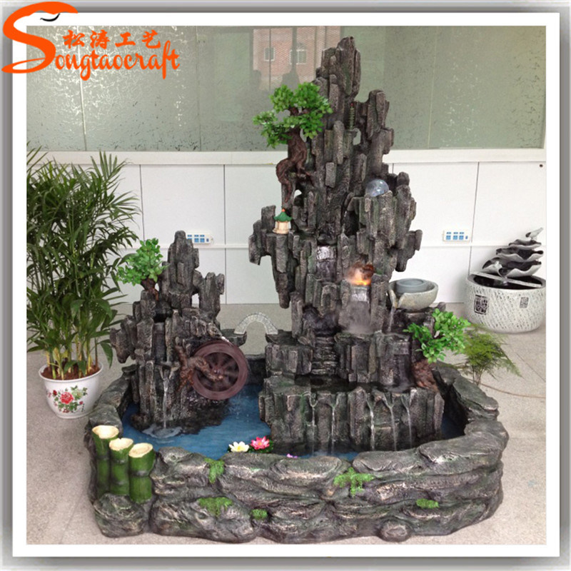 China Lastest Style Artificial Mini Indoor Rock Watrefall Fountain Waterfall