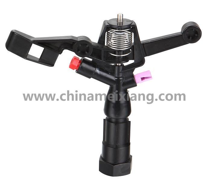 G3/4′′full Circle Gardens Plastic Impulse Sprinkler Agriculture Irrigation Sprinkler (Double Brass nozzles) (MX9501)