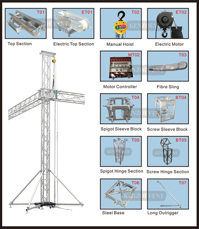 Manual Lighting Box Truss Lift Tower for Events pictures & photos