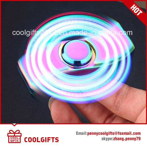 New Design LED Colorful Electric USB Charged Hand Spinner Lighter