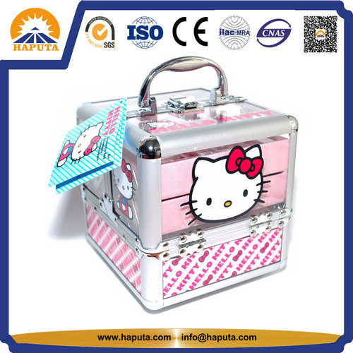 Fashion Hello Kitty Beauty Case Storage Box With 4 Trays For Kids (HB 6350)
