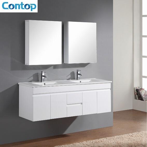 China Wall Hung Double Basin Bathroom Vanity China Vanity Cabinet