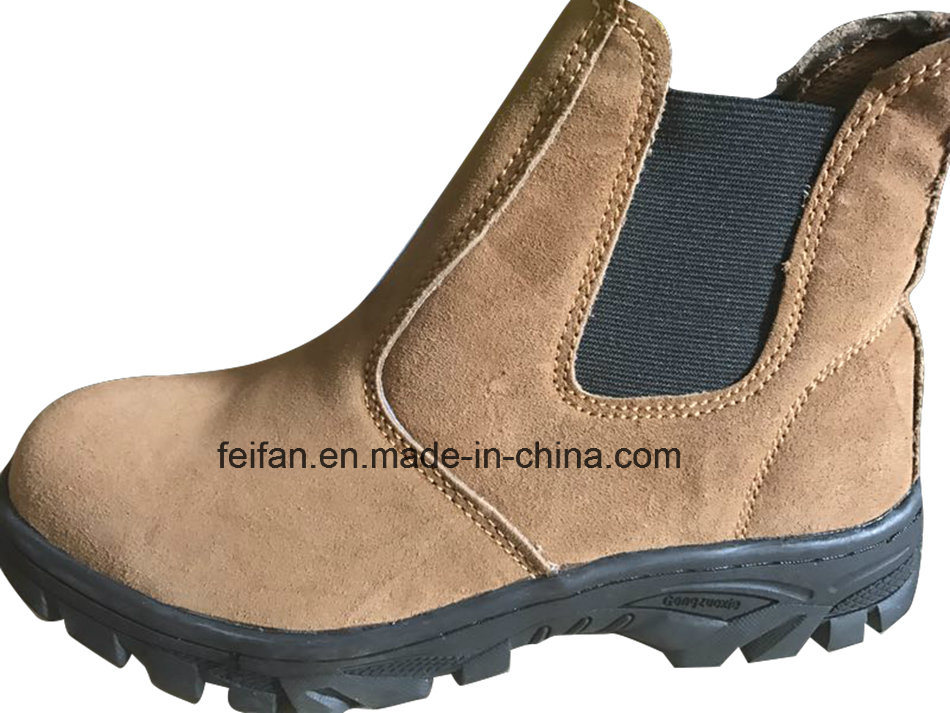 Suede Leather MID-Ankle Safety Boots