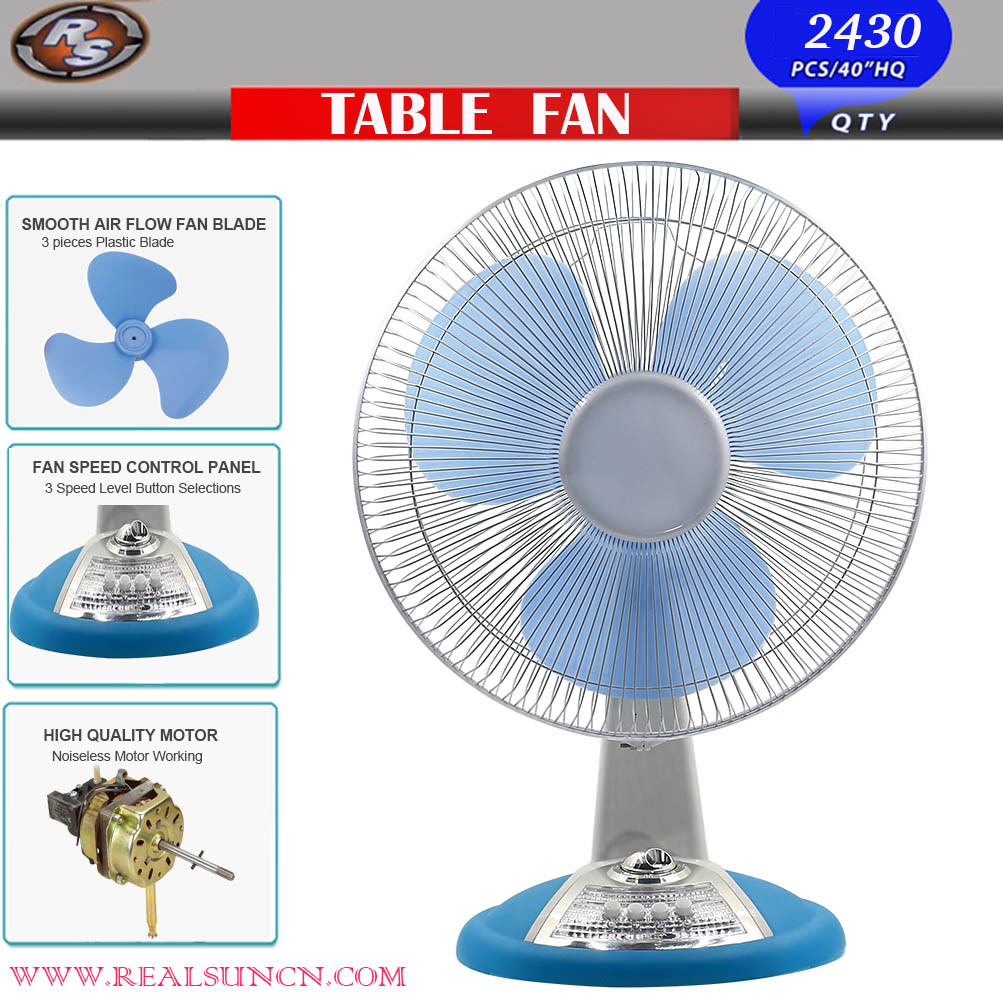 China 16inch Table Fan With Transpa Blade High Quality Standard Desk Electric