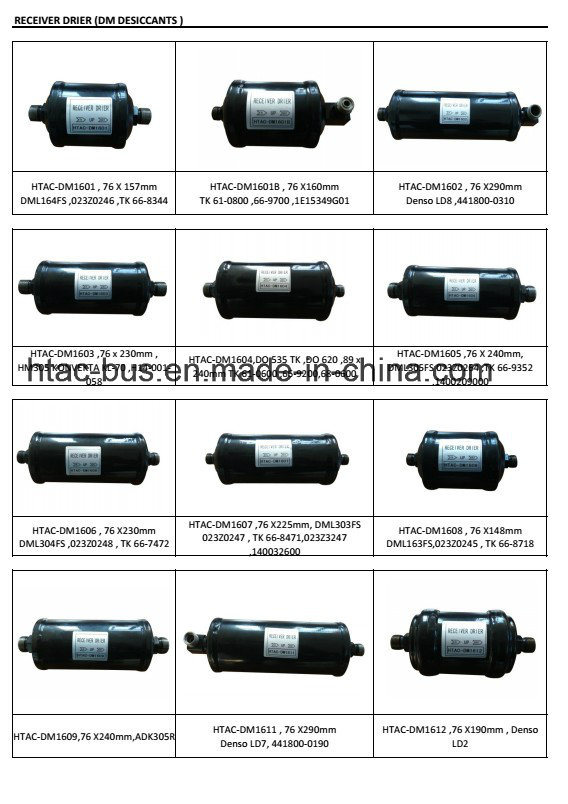 High Quality Truck Air Conditioner Parts Filter Drier pictures & photos