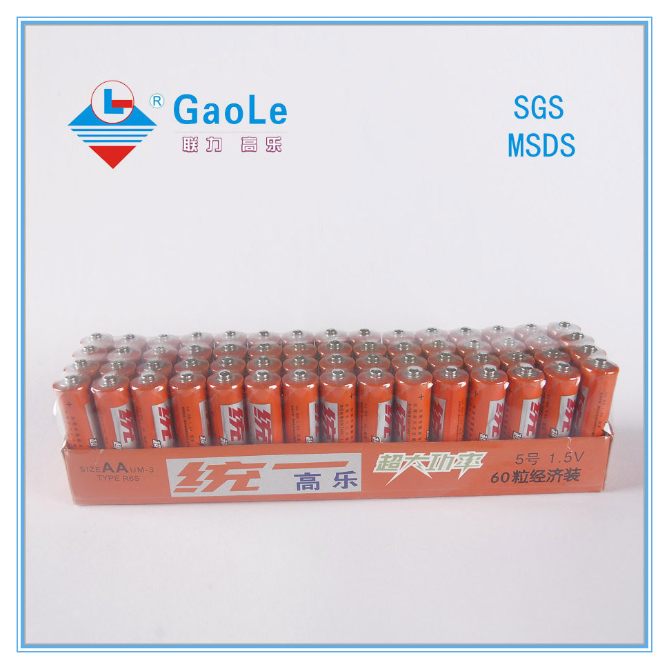Hot Sale Um-3 Carbon Zinc Battery R06 AA Size