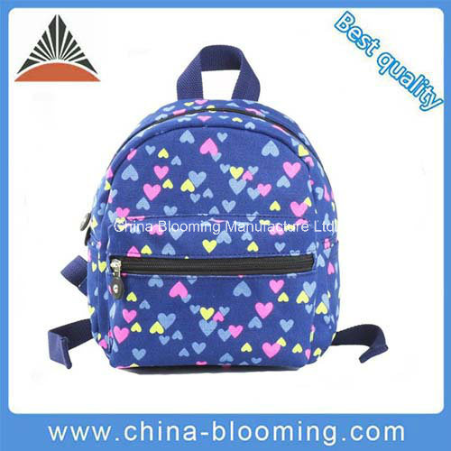 0f8aa66350 China Lovely Kids Canvas Small Backpack Back to School Bag - China ...