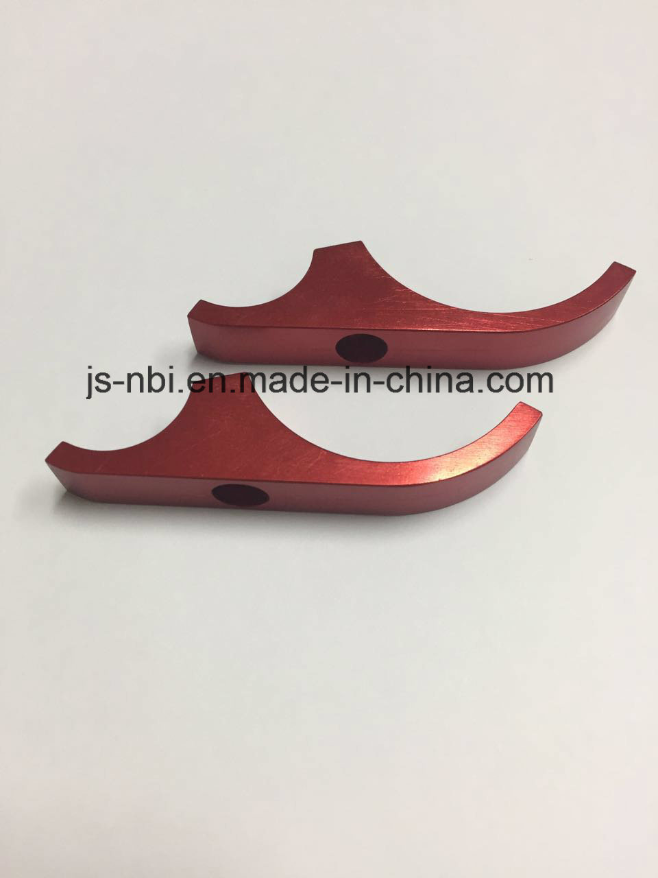 CNC Machining Aluminum Part for Clamps with Red Anodized