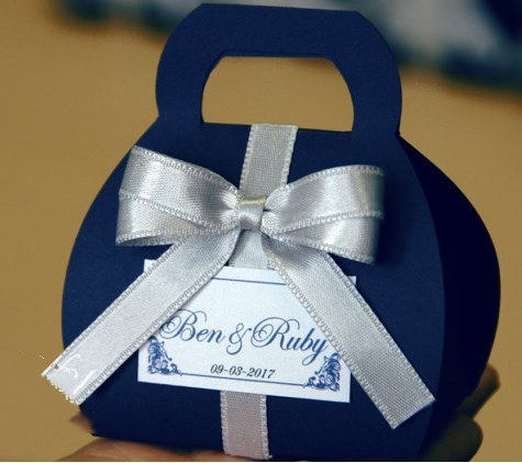 Navy Blue Wedding Favor Box Decorative Packaging Bo