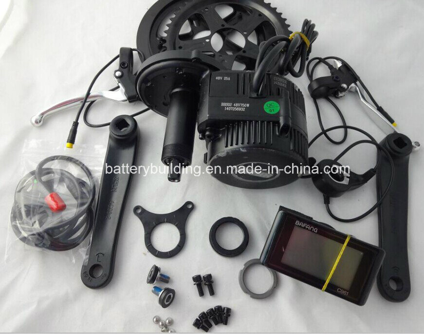[Hot Item] 48V 750W 8fun/Bafang Central/MID Drive Motor BBS02  Motor/Electric Bicycle Conversion Kit 48V 750W