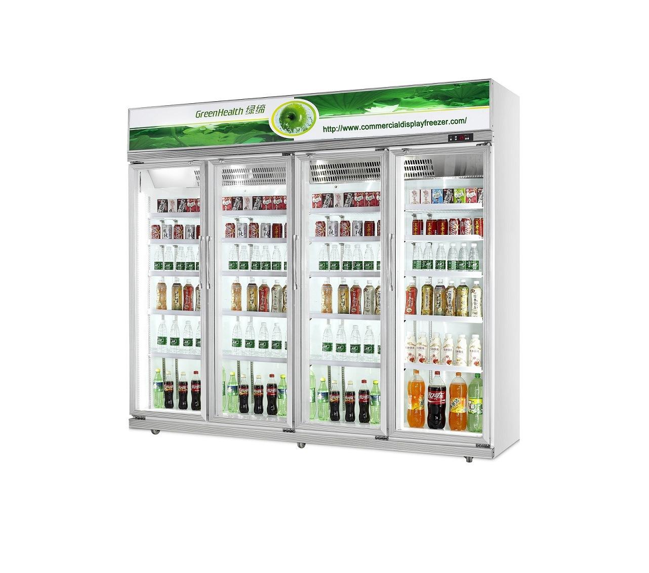 China Single Glass Door Beer Cooler Fridge Soft Drink Upright