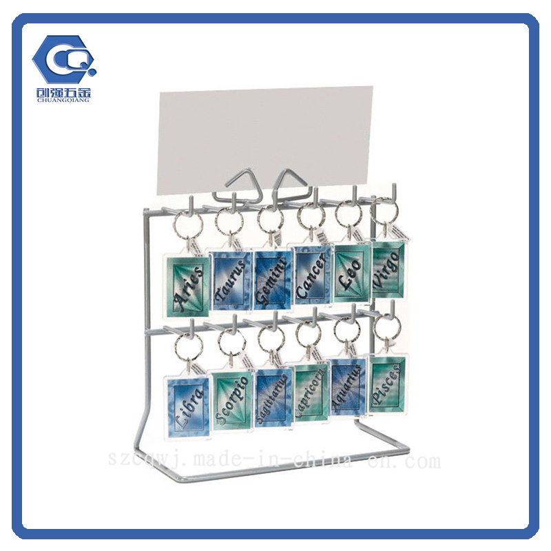 China Counter Type Metal Wire Hanging Greeting Card Display Rack ...