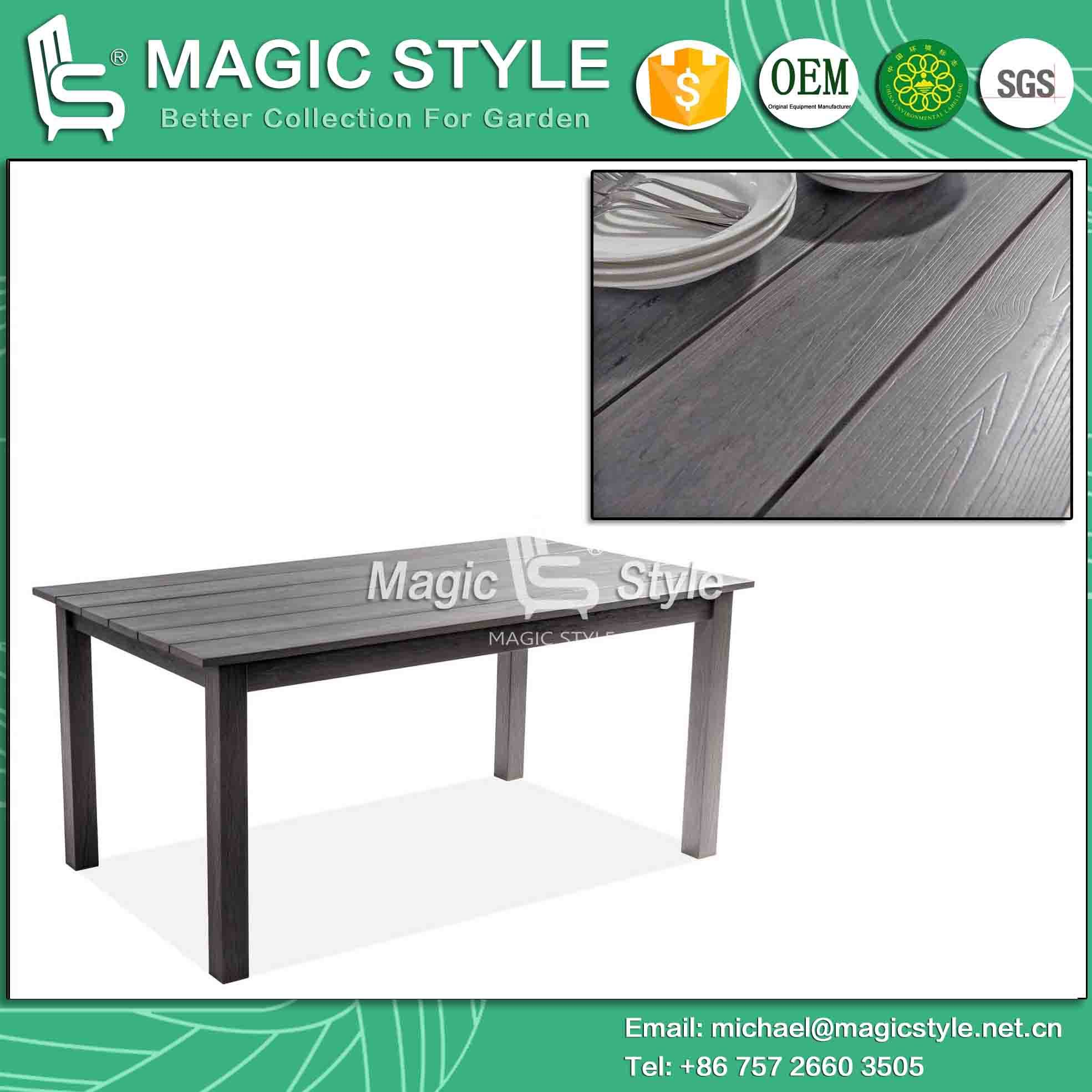 China Poly Wood Table Coffee Table Dining Plastic Table