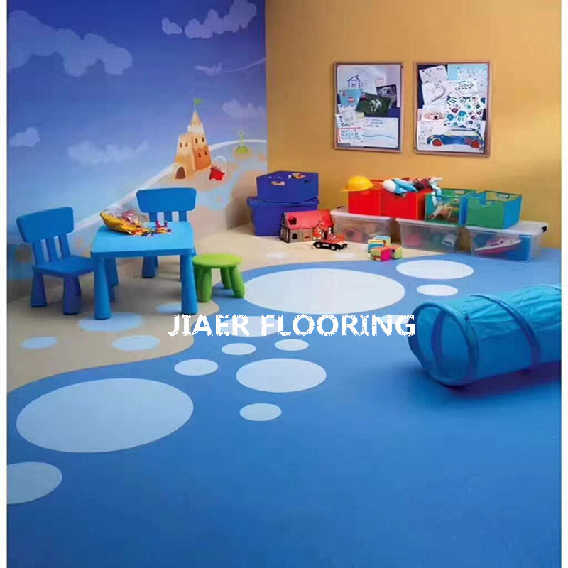 China Kids Room Floor Safety Vinyl Flooring Roll Pvc