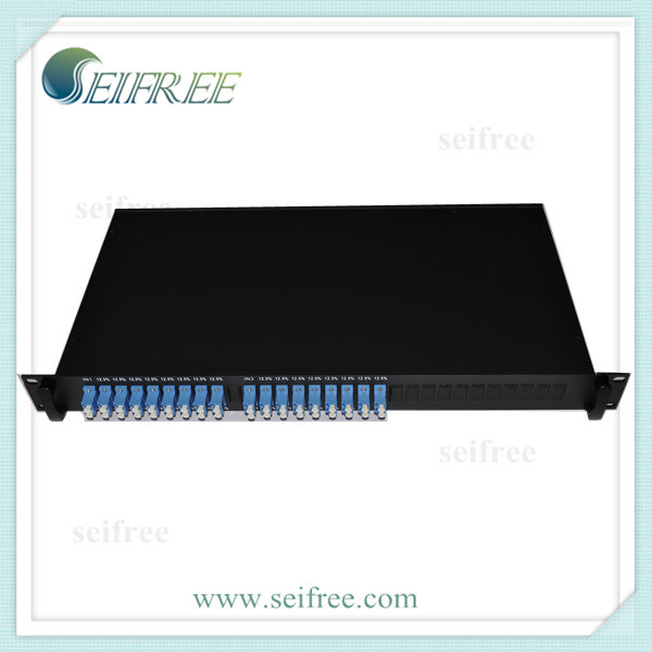 FTTH Fiber Optical PLC Splitter 1X8 with 19rack (D3)