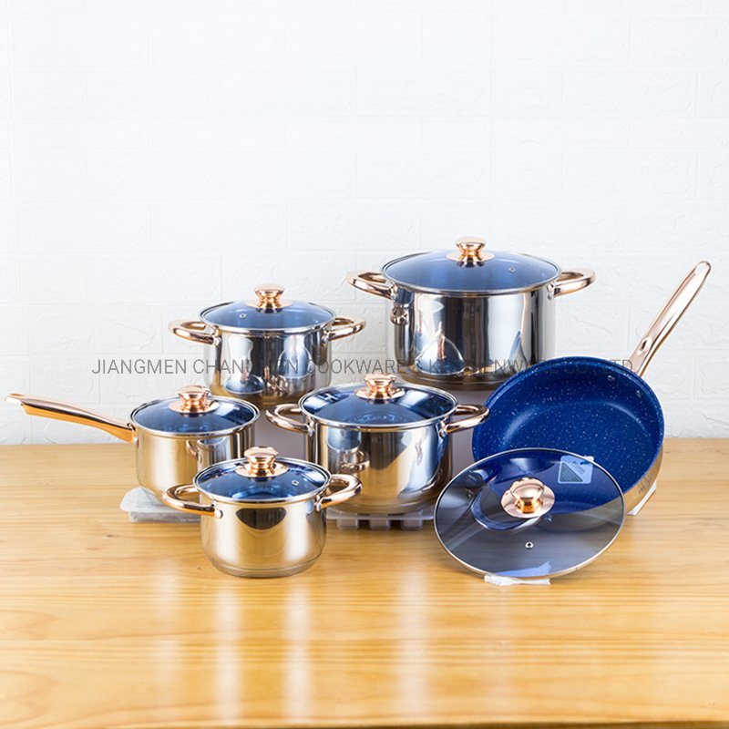 Wholesale 12 PCS Stainless Steel Nonstick Cookware Set for Kitchen