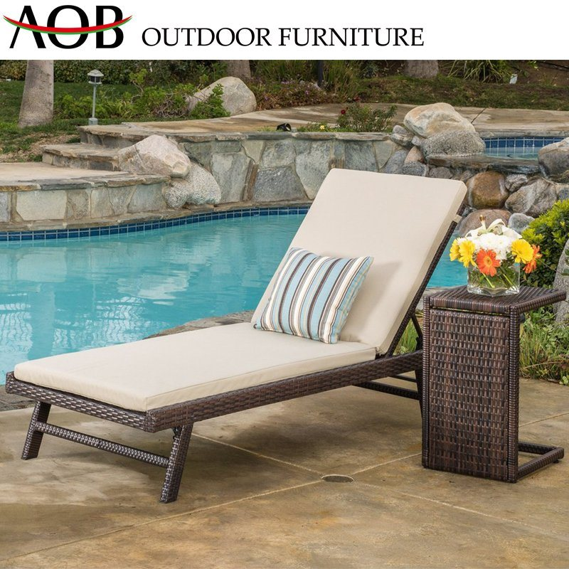 Contemporary Outdoor Garden Hotel Seaside Home Rattan Wicker Furniture Beach Lounge Chair Sun Lounger Sunbed pictures & photos