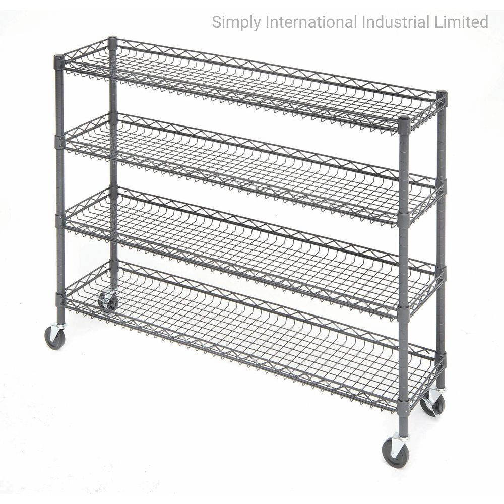 20 Tier Metal Rolling Cart With Wheels With Baskets For Retail Storage 20