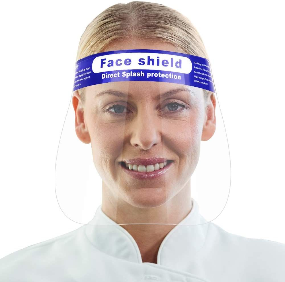 Anti-Spray Protective Disposable Plash Clear Face Shield