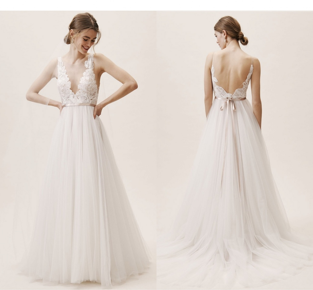 Long Sleeves Bridal Gowns Lace Satin