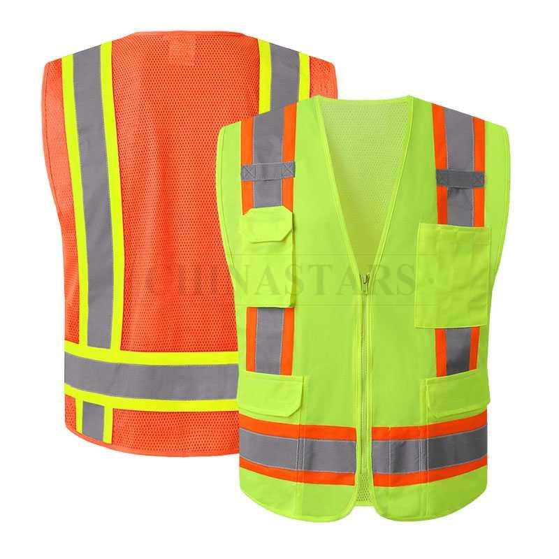 Workplace Safety Supplies Safety Vest Traffic Fluorescent Hi-vis Pvc Tape/ Mesh Vest